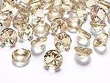 Schnooridoo 50 Diamanten Gold/Apricot 20mm Tischdekoration Streuartikel Hochzeit Taufe Konfirmation Event Deko