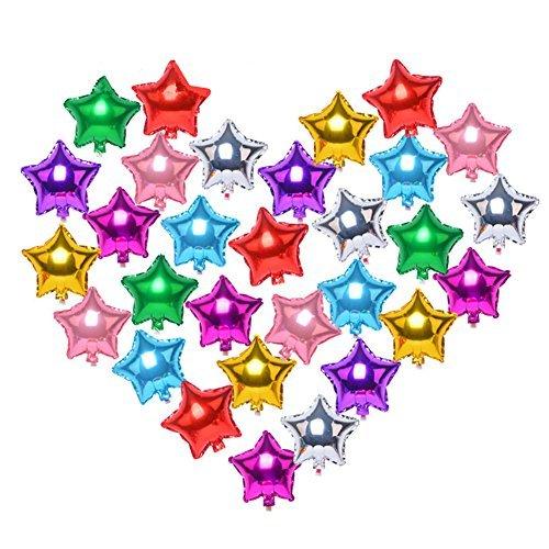 (20Stk) Sortierte Farbe 5 Sterne Helium Foil Ballons für Hochzeit Geburtstag Jahrestag Graduierung Party Dekoration (18 inch)