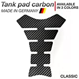 Motoking tank pad carbon 'CLASSIC' - motorcycle tank and paint protection, universal - available in 3 colors - BLACK