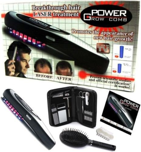 Cpixen Power Grow Laser Comb Kit Regrow Hair Loss Therapy Cure Promotes the Appearance of New Hair with Manicure Set