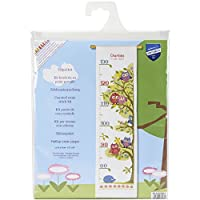 Vervaco Height Chart Owls Counted Cross Stitch Kit, Multi-Colour