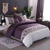 Die besten King-Size-Betten - WONGS BEDDING Bettwäsche-Set für King-Size-Betten, Bettbezug mit modernem Bewertungen