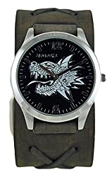 Nemesis Men's 933FXBK 3D Dragon Head Series Analog Display Japanese Quartz Black Watch