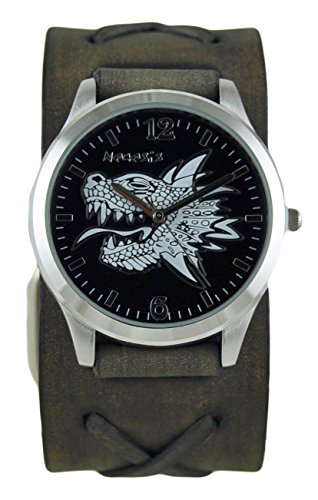 Nemesis 933FXBK - Reloj de pulsera hombre, piel, color Negro