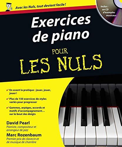 Exercices de piano pour les nuls (1Cédérom) por David Pearl