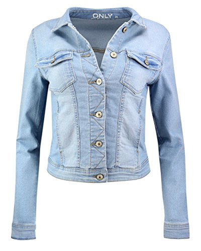 9931158e9b706a ONLY Damen Jeansjacke Damenjacke Jacke Denim Jacket Übergang (40