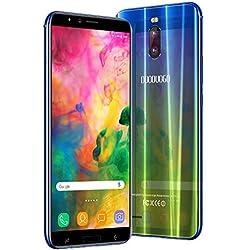 Smartphone Pas Cher 4G DUODUOGO J6+ 6 Pouces HD Telephone Portable Debloqué Batterie 4800mAh 16 Go ROM 2Go RAM Face ID Dual SIM Android 7.0 Dual 8MP 5MP Caméras WiFi Bluetooth Double Flash (Or)