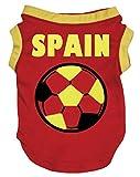 Petitebelle Puppy Dog Clothes España Soccer Red Cotton Shirt