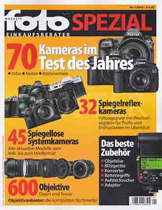 Magazin Foto Spezial Nummer 1 - 2016: 70 Kameras Im Test Des Jahres - Infos. Noten. Kommentare.