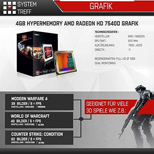 Komplett-PC-Office-Multimedia-inkl-Windows-10-Pro-64-Bit-AMD-Dual-Core-A6-5400K-2x-38GHz-Turbo-ATI-Radeon-HD-7540D-4GB-HyperMemory-APU-8GB-DDR3-RAM-1000GB-HDD-24-fach-DVD-Brenner-USB-30-DVI-HDMI-VGA-C