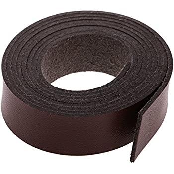 Schwarz Homyl 2 Meter Flach Lederband Lederriemen Lederb/änder 15 mm Kaffee//schwarz 2 Meter