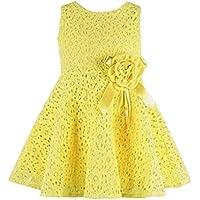 Vovotrade® vestito da partito di un pezzo delle ragazze bambini floreale piena del merletto