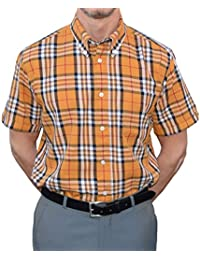 Warrior Mustard & Black Check Shirt Sizes Large-4XL Available