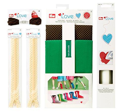 Prym Love 651808 lenzuola a stivaletti - Espadrilles creativo filo, decorazione-cerniere, creativo-in tessuto non tessuto, verde