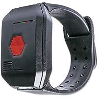 DistyNotruf NEO mobiles Notfallarmband für Zuhause - Notrufarmband spritzwasserfest als Telefon für Senioren Hausnotruf Seniorentelefon Notfallknopf Notrufknopf inkl. Clip und Halskette