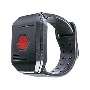 DistyNotruf NEO mobiles Notfallarmband für Zuhause – Notrufarmband spritzwasserfest als Telefon für Senioren Hausnotruf Seniorentelefon Notfallknopf Notrufknopf inkl. Clip und Halskette