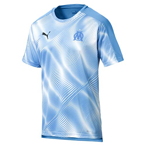 Puma Maillot Olympique de Marseille Stadium pour Homme, Bleu Azur White, FR (Taille Fabricant : XL)