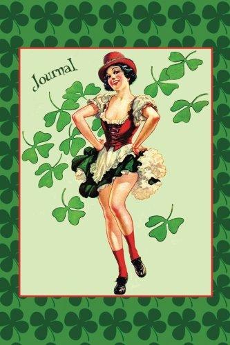 Luck of the Irish: Sexy Vintage Irish Dancer Pin-Up Girl Journal Blank Book por Nifty Notebooks