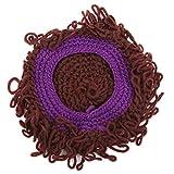 EJY Kinder Lässige Perücke Handmade Hat Welliges Haar Kopfschmuck Zubehör Turban Roll Modellierung Cap(lila)