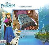 Trapunta Invernale Disney Frozen Elsa e Anna Piumone 180x260cm Imbottitura 320gr/mq