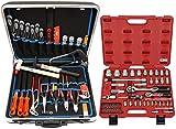Famex 620-09 Werkzeug Komplettset High-End Qualität in ABS Schalenkoffer 32 L mit 66-teiligem Steckschlüsselsatz