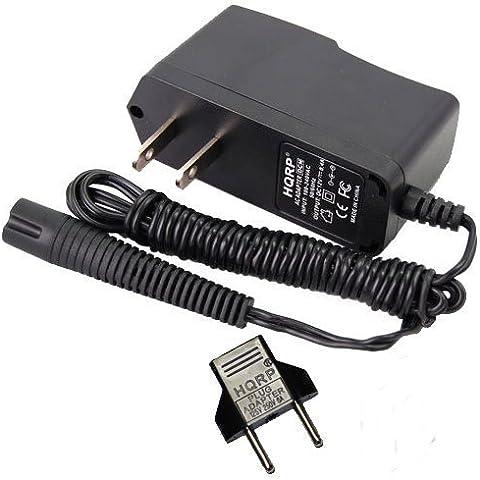 HQRP Fuente de alimentación para Braun Series 3 Model 370, 350cc, 370cc Type 5774, Model 340 Type 5775 Máquina de