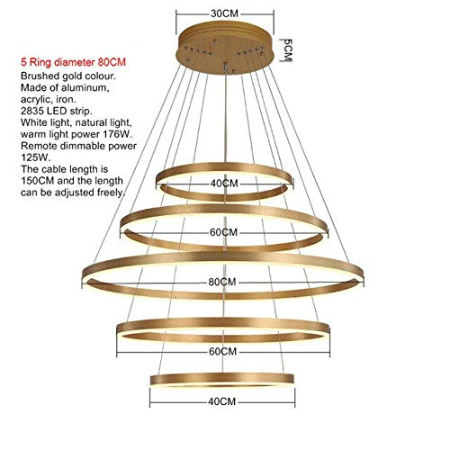WSYYWD Moderne Luxus LED Deckenlampe Wohnzimmer Esszimmer Deckenlampe