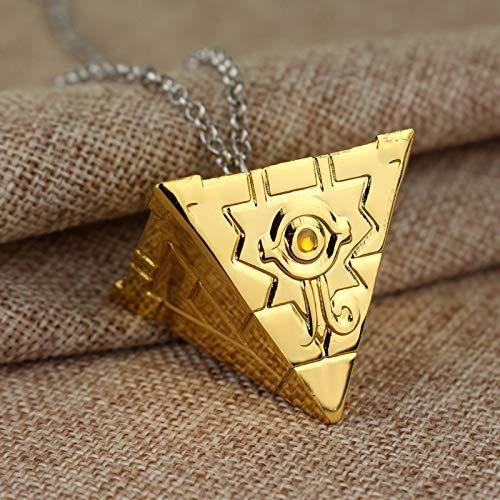 3D Yu-Gi-Oh Halskette Anime Yugioh Millenium Anhänger Schmuck Spielzeug Yu Gi Oh Cosplay Pyramide Ägyptischen Auge Des Horus Halskette (Kragen Halskette ägyptische)