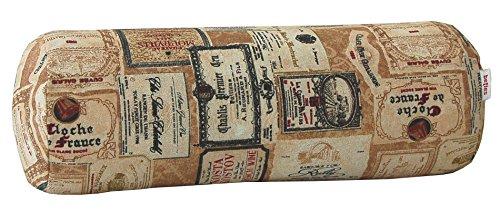 beties Rustika Nackenrollen Bezug ca. 15x40 cm in großer Artikel-Auswahl für einen gemütlichen warmen Vintage Einrichtungsstil Camel-Burgund