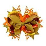 BESTOYARD Mädchen groß Hairclips Haar Bowknot Clip Kids Haar Zubehör Haarspange Thanksgiving Day Dekoration 009-01