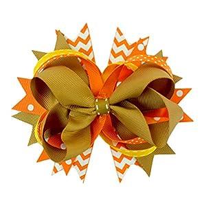 BESTOYARD Mädchen groß Hairclips Haar Bowknot Clip Kids Haar Zubehör Haarspange Thanksgiving Day Dekoration 009–01