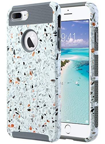 ULAK iPhone 7 Plus Cover, iPhone 7 Plus Custodia Ibrida a Protezione Integrale con Parte Esterna in 2 Strati di Morbido Silicone e...