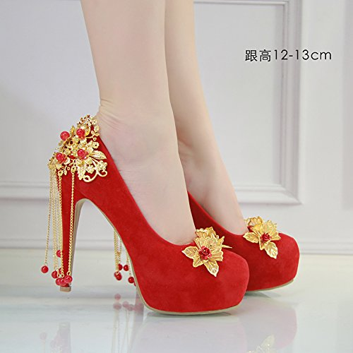 JINGXINSTORE RedCrystalWaterDiamondscarpeda sposa scarpe dasposa rosso