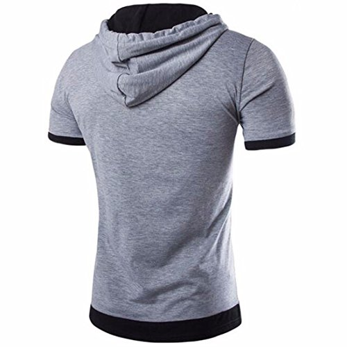 Magliette Casual Fascette Uomo Casual Due T-Shirts Adatta Tops T-Top Solid Color light grigio