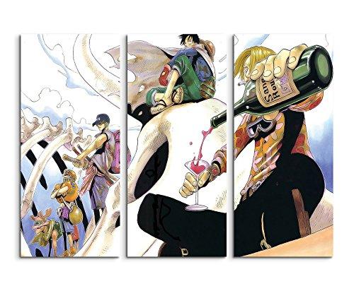 Bastidor imagen lienzo 3piezas One Piece Desert