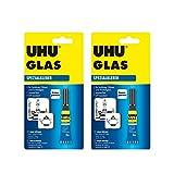 2 x UHU Glas Reparaturkleber, 2 x 3g wasserfest, UV-resistent