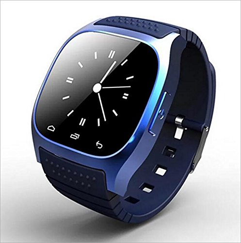 Human Smart Watch M26 Bluetooth Uhr Telefon Leben Wasserdicht,Blue