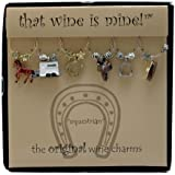 That wine is mine! Wine Glass Charms - Equestrian