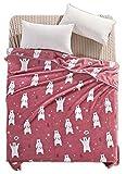 Sommerdecke Klimaanlage Decke Coral Carpet Erwachsene Decke Rosa