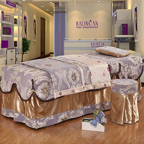 SL-DAM Beauty Salon tagesdecke,Seide Chenille spa Bett Decken Vier stück universal Baumwolle Massage Tisch Sheet Sets leicht schmutzabweisend-A 70-80cm(28x31inch) -