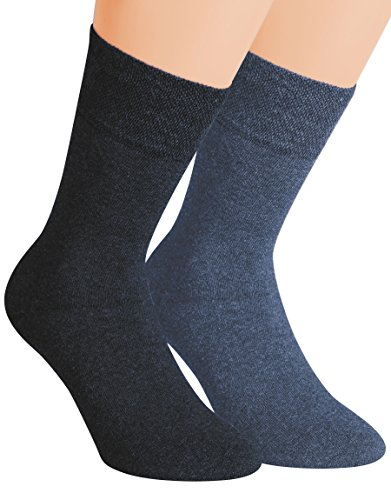 Vitasox 32037 Herren Wellness Socken Baumwolle Frotteesohle Baumwollsocken Arbeitssocken ohne Gummi 4er Pack Jeans 39/42