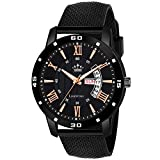 LimeStone Day and Date Functioning Black Quartz Watch for Boys - (LS2805)
