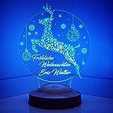 Weihnachtsgeschenke Nachttischlampe Personalisierbar Silvester deko mit eigenem...