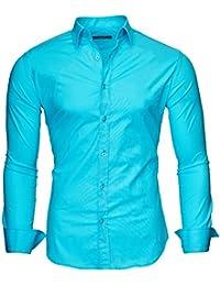 KAYHAN Langarmhemd Slim Fit 20 Farben zur Auswahl S-XL