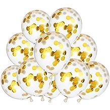 10 Piezas 12 Pulgadas Globos con Confeti Globos Látex Llenos de Confeti para Decoración de Fiesta