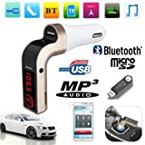 #9: CEUTA Wireless Car Hands-free Bluetooth 2.5A Dual USB Turbo Charging Kit with LED Display FM Transmitter (Color may vary, UbicG7Carwireless01)