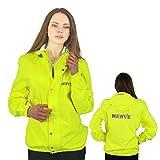 NerveShop Leichte -Amazon- Regenjacke Motorrad Regenbekleidung Wasserdicht Damen Herren Jungen Atmungsaktiv Wasserdicht - Gelb - S