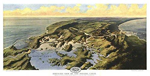Reproduktion eines Poster Präsentation-Central America-Panama Canal (1912)-61x 81,3cm Poster Prints Online kaufen