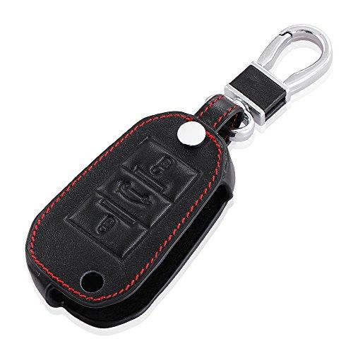 auto-leder-fold-fernbedienung-key-cover-case-holder-fur-peugeot-2008-3008-301-schwarz