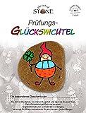 Glücksbringer Prüfung - Unikat Natur Stein - Mit Text auf Geschenkkarte - Handbemalt in Deutschland - Art & Emotions